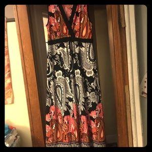Paisley 1x Flowy sleeveless dress